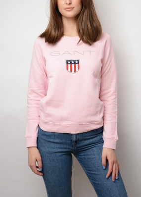 Gant Shield Logo C-neck Sweat, California Pink