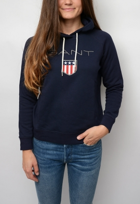 Gant Shield Sweat Hoodie, Evening Blue