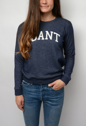 Gant C-neck Sweat, Marine Melange