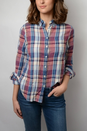 Winter Flannel Madras Shirt, Smoked Paprika