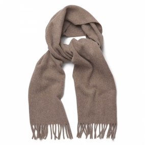 Solid Lambswool Woven Scarf, Falcon Grey