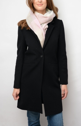 GANT DIAMOND G CLASSIC TAILORED COAT, BLACK