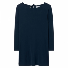 Bow Back 3/4 Sleeve Top, Marine