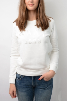 Gant 1949 C-neck Sweat, Eggshell