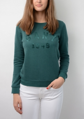 Gant 1949 C-neck Sweat, June Bug Green