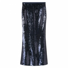 Full Length Sequin Skirt, Marine