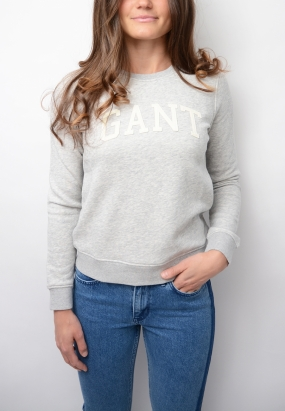 Gant C-neck Sweat, Light Grey Melange