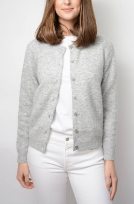GANT WOOLEN HAIRY CARDIGAN, GREY MEL