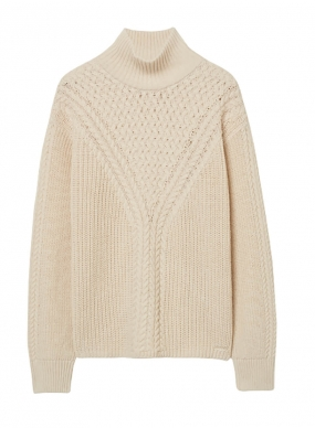 GANT CABLE TURTLENECK, CREAM