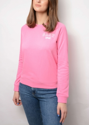 The Summer Logo C-neck Sweat, Pink Embrace