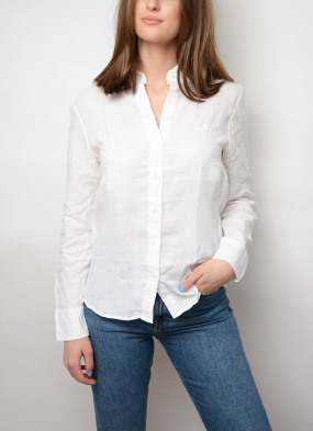 The Linen Chambray Shirt, White
