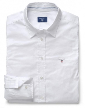 Stretch Oxford Solid Shirt, White