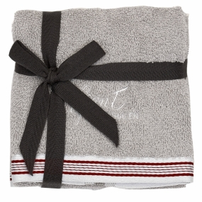 Guest Towel 2-pack Sheep Grey