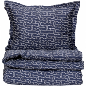 G Line Double Duvet Set, Sateen Blue