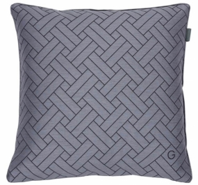 Oxford Cushion Cover, Elephant Grey