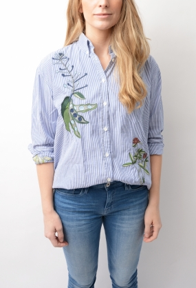 Embroidered Dreamy Oxford Shirt Crisp Blue