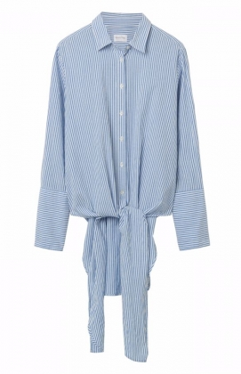 Crinkle Dreamy Oxford Knot Shirt Blue Lagoon