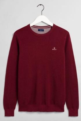 GANT HERR | Cotton Pique C neck, Port Red | Tröjor Herr | Eli