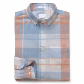 Selvedge Bleeding Madras Shirt, Air