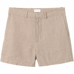 The Oversized Linen Shorts, Cement