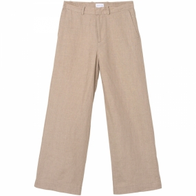 The Oversized Linen Chino, Cement