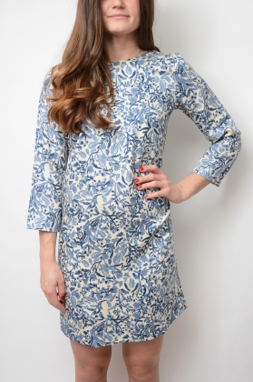 Shirt Back Dress, Deep Ocean
