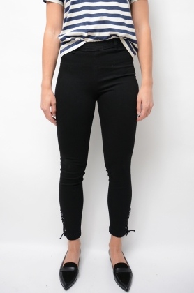 2ND Jeanett Cropped String, Black