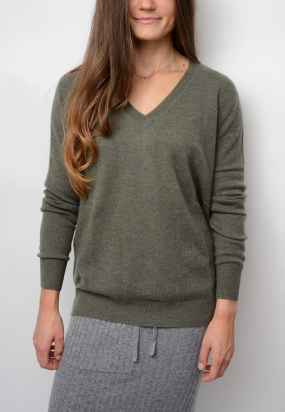 Nelly Sweater, Green Melange