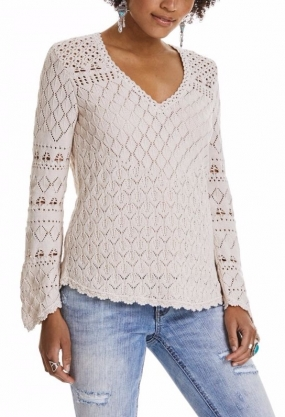 Love Affair Sweater Light Porcelain