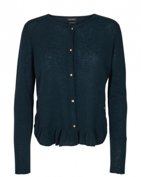 Alice Cashmere Cardigan, Dark Teal