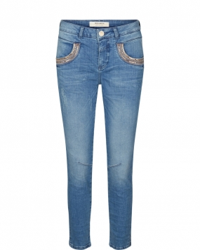 Naomi Shine Split 7/8, Light Blue Denim
