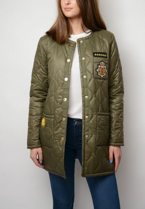 Suri Quilted Coat, Army