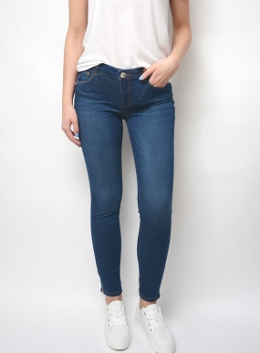 Victoria Sateen Jeans, Blue Denim