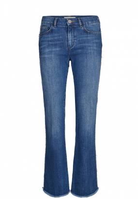 Percy Frill Flare Jeans, Blue Denim