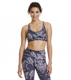 UPBEAT SPORT BRA, almost black