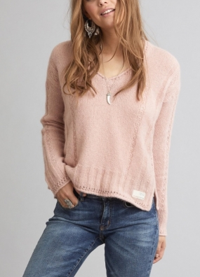 CLOCKWISE SWEATER, milky pink