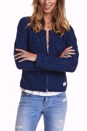 Harmony Knitted Jacket, Shadow Blue