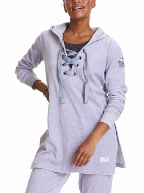 Get Along Hood Sweater, Light Grey Melange