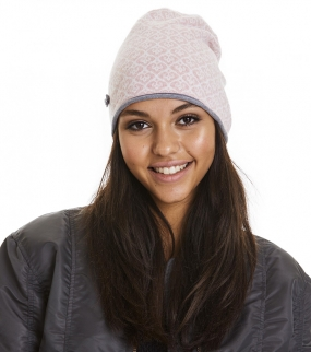 GOOD VIBRATIONS TUBE BEANIE, MILKY PINK