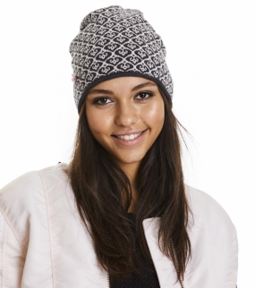 GOOD VIBRATIONS TUBE BEANIE, ALMOST BLACK
