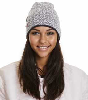 GOOD VIBRATIONS TUBE BEANIE, light grey mel.