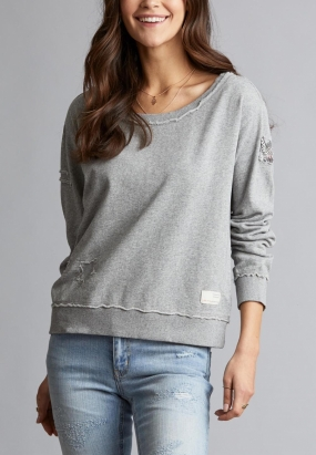 HONEY SWEET SWEATER, LIGHT GREY MEL