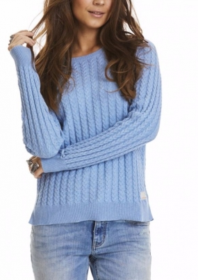 RIBBEY SWEATER, LIGHT BLUE