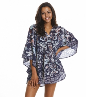 SWEET TO THE SKIN PONCHO, DARK BLUE