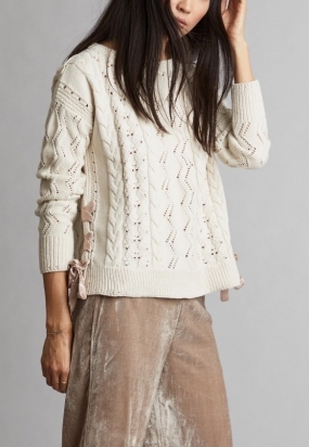 Flurry Sweater, Chalk