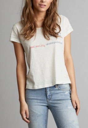 Labelize s/s Top, Light Chalk