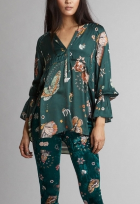 Dearly L/s Blouse, Magic Garden