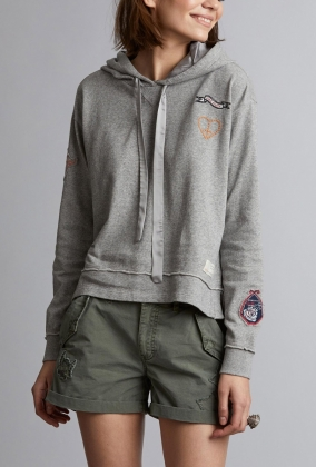 HONEY SWEET HOODIE, LIGHT GREY MELANGE