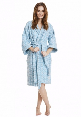 COZY BATHROBE, TURQOUSE