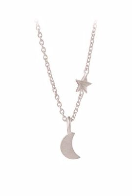 Luna Star Necklace Silver
